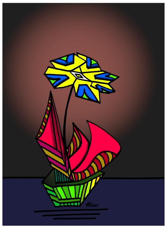 Blume im Topf - Häusser