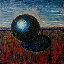 Kugel 90x90 Acryl Farbe 2010 P.H.