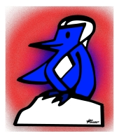 peter-hausser-abstract-animal-series-1-penguin