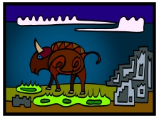 peter-hausser-abstract-animal-series-10-buffalo