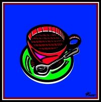Tasse Kaffee - Häusser
